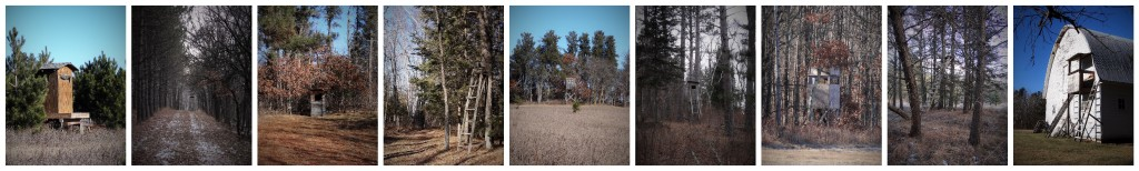 deer stand collage